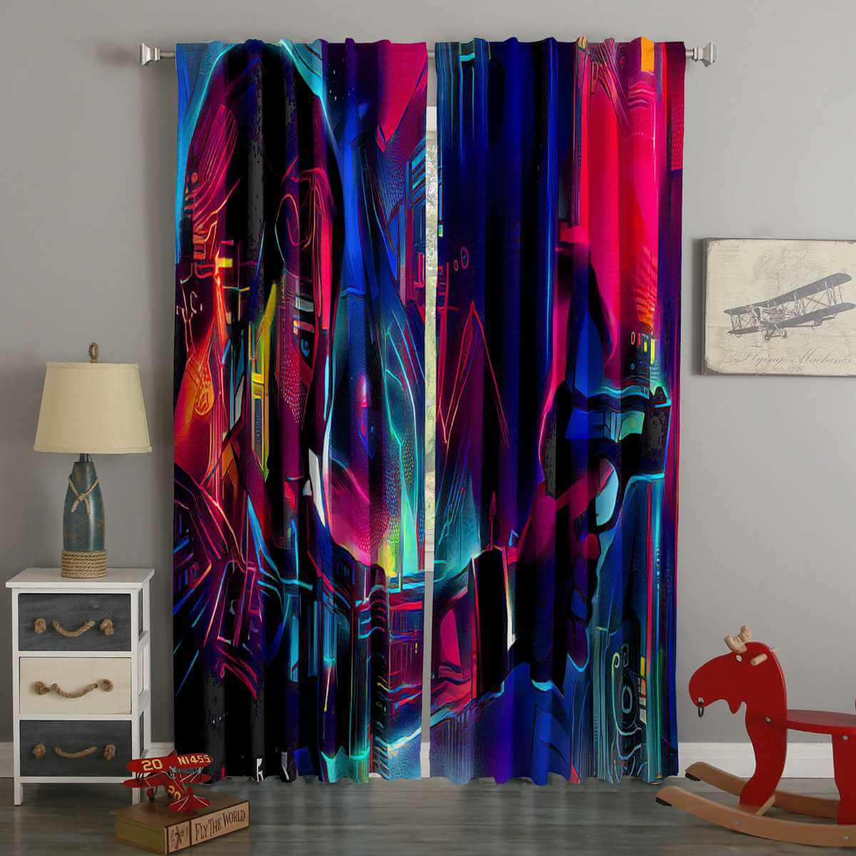 3D Printed Altered Carbon Style Custom Living Room Curtains