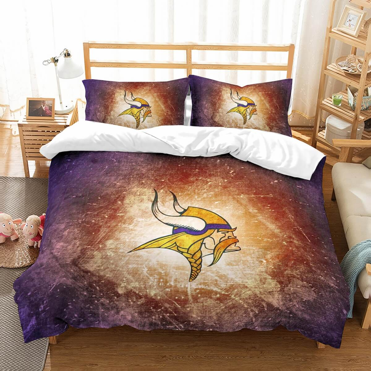 3D Customize Minnesota Vikings Bedding Set Duvet Cover Set Bedroom Set Bedlinen