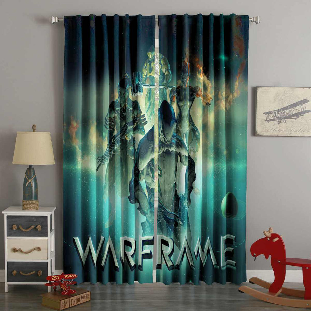3D Printed Warframe Style Custom Living Room Curtains