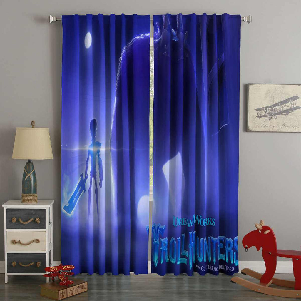 3D Printed Trollhunters Style Custom Living Room Curtains
