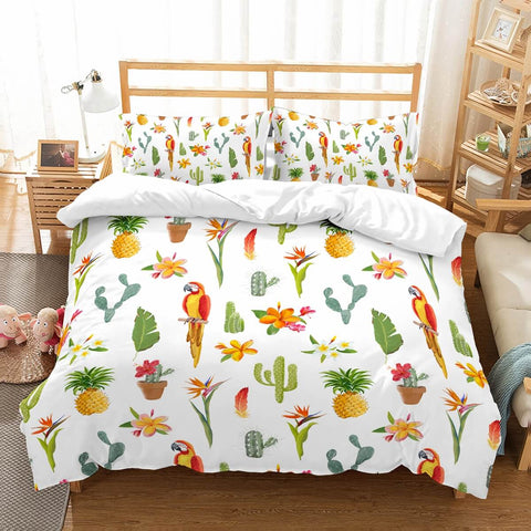 3D Customize Parrot Bedding Set Duvet Cover Set Bedroom Set Bedlinen
