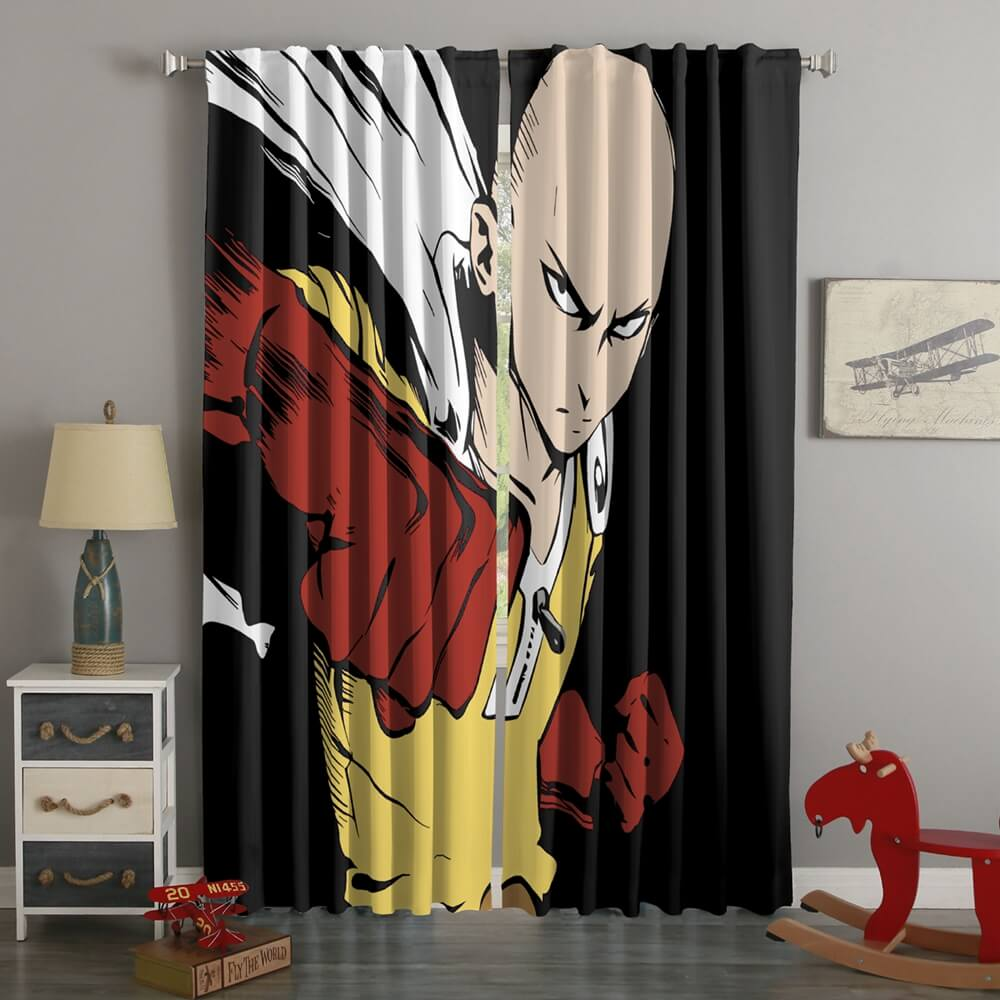 3D Printed One Punch Man Style Custom Living Room Curtains
