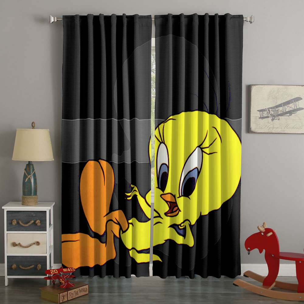 3D Printed Tweetybird Custom Living Room Curtains