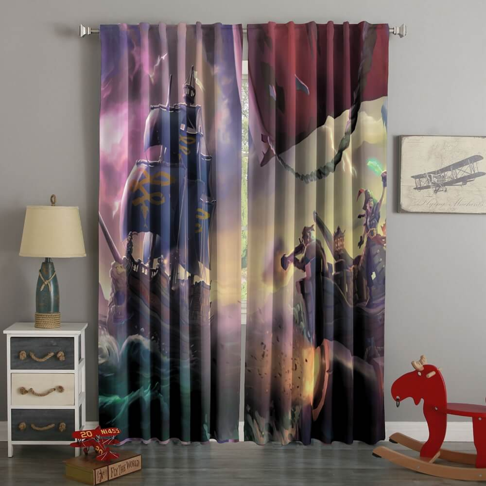 3D Printed Sea Of Thieves Style Custom Living Room Curtains