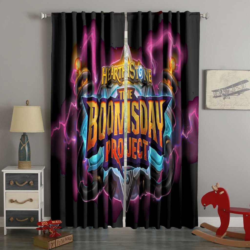 3D Printed Hearthstone The Boomsday Project Style Custom Living Room Curtains