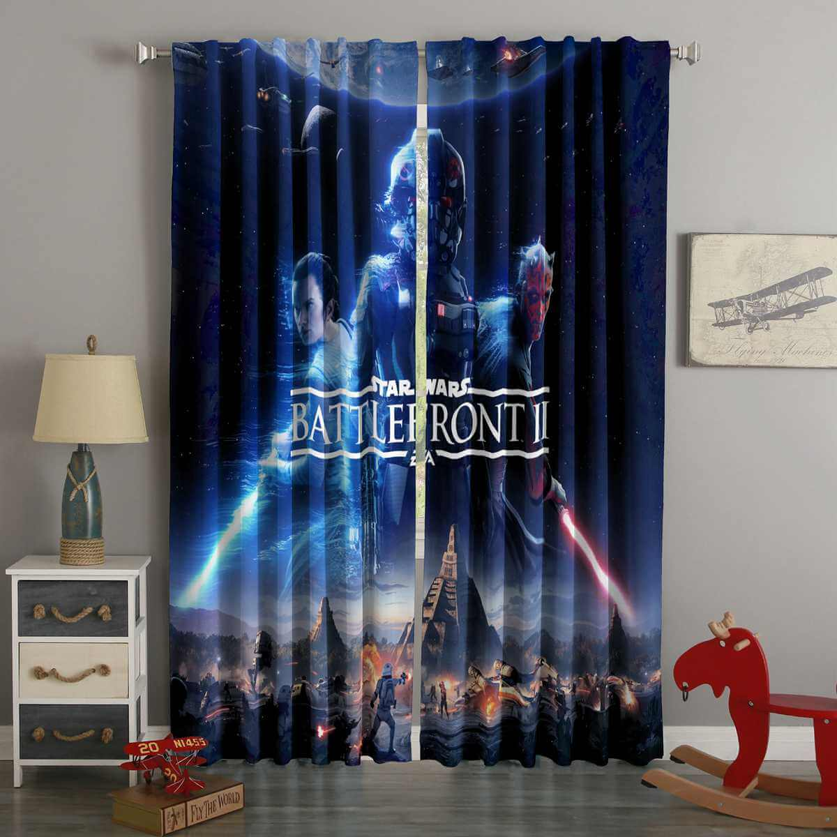 3D Printed Star Wars Battlefront II Style Custom Living Room Curtains