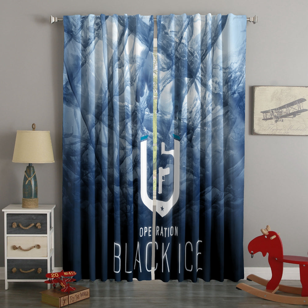 3D Printed Tom Clancy's Rainbow Six Style Custom Living Room Curtains