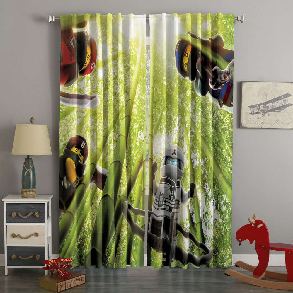 3D Printed The Lego Ninjago Style Custom Living Room Curtains