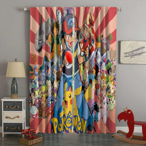 3D Printed Pokemon Style Custom Living Room Curtains