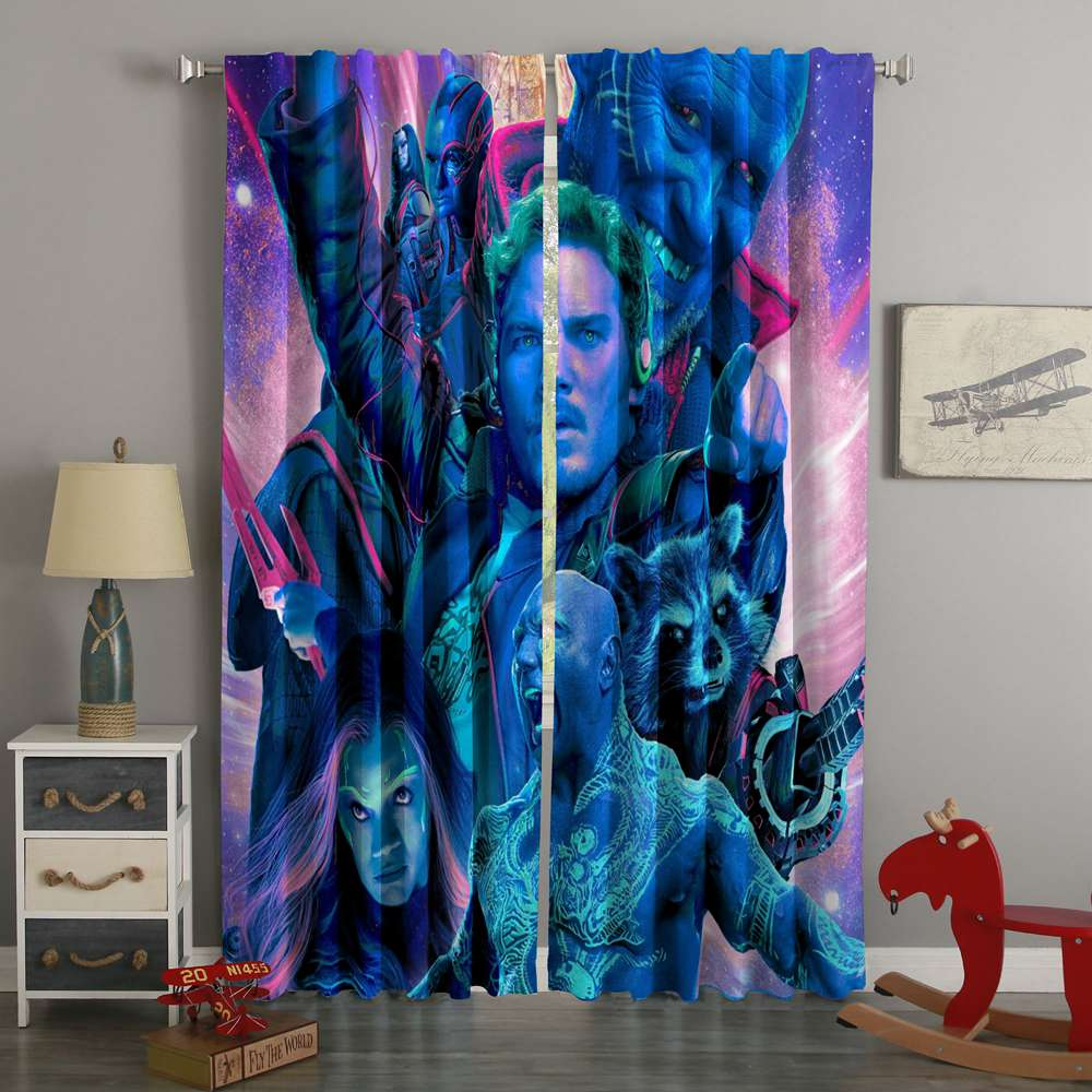 3D Printed Guardians Of The Galaxy Style Custom Living Room Curtains