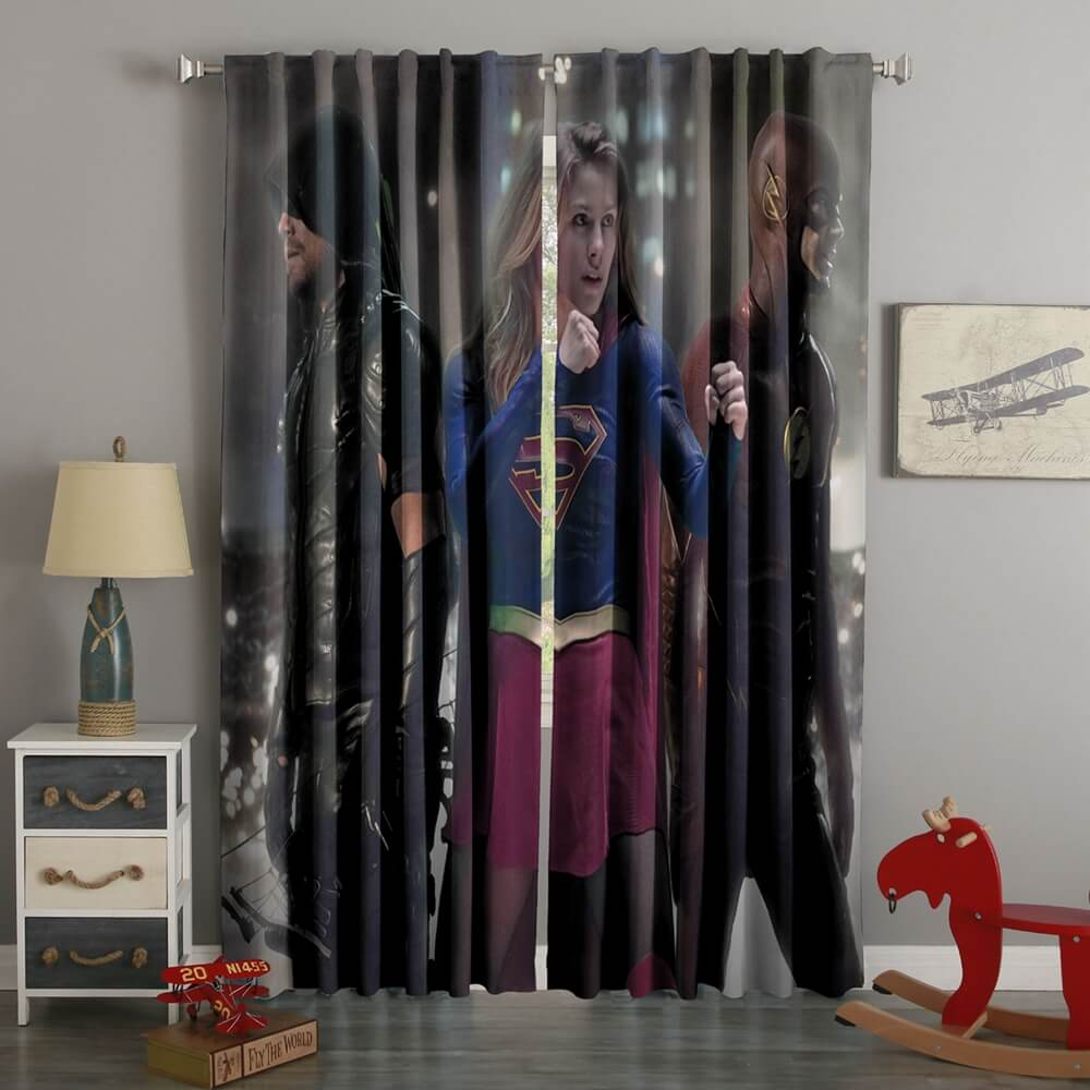 3D Printed Flash Arrow Supergirl Style Custom Living Room Curtains