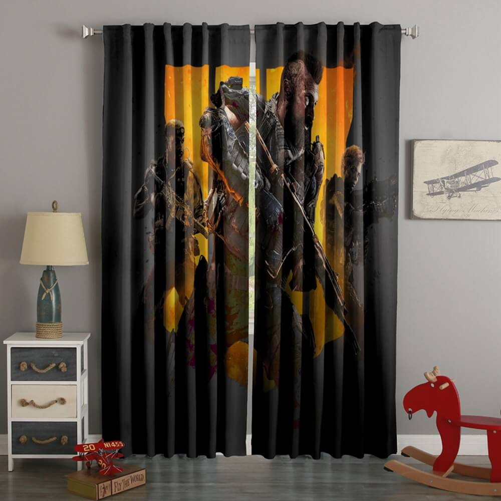 3D Printed Call of Duty Style Custom Living Room Curtains