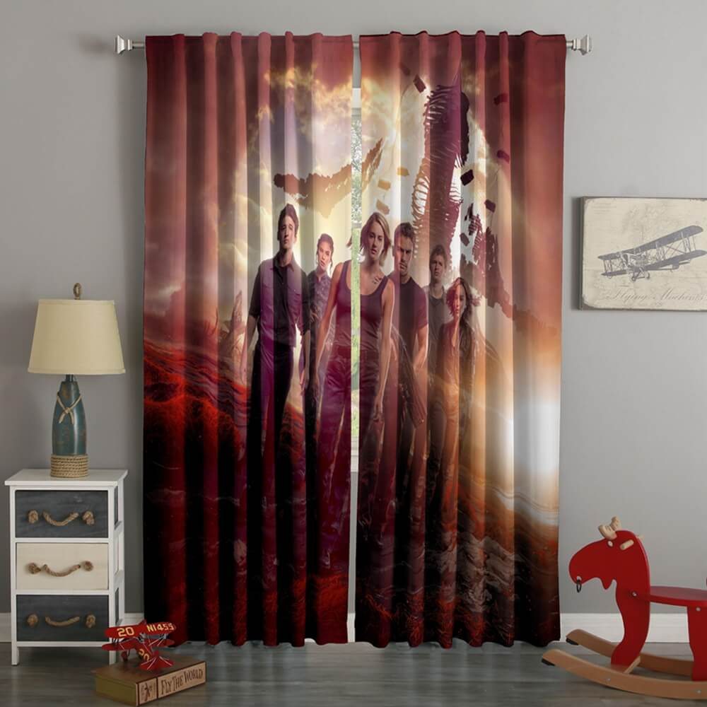 3D Printed Divergent Style Custom Living Room Curtains