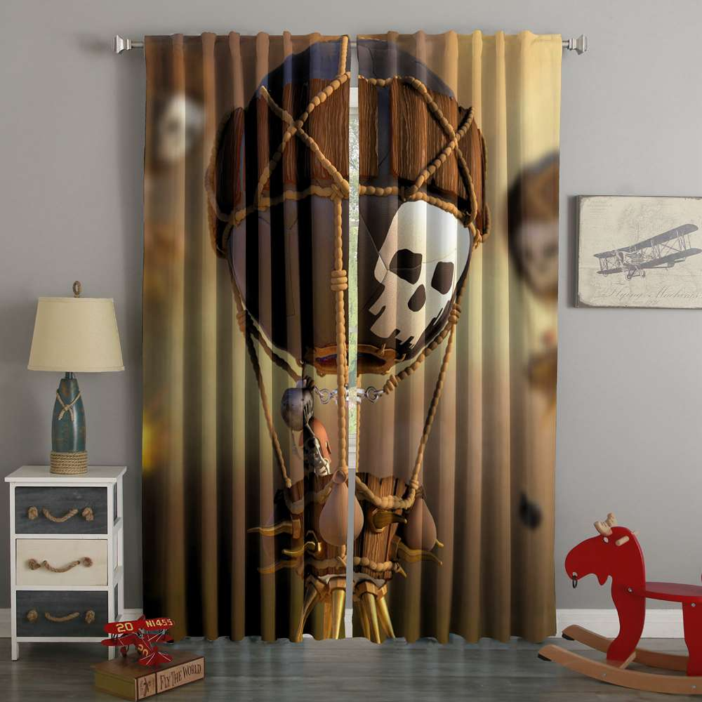 3D Printed Clash Of Clans Style Custom Living Room Curtains