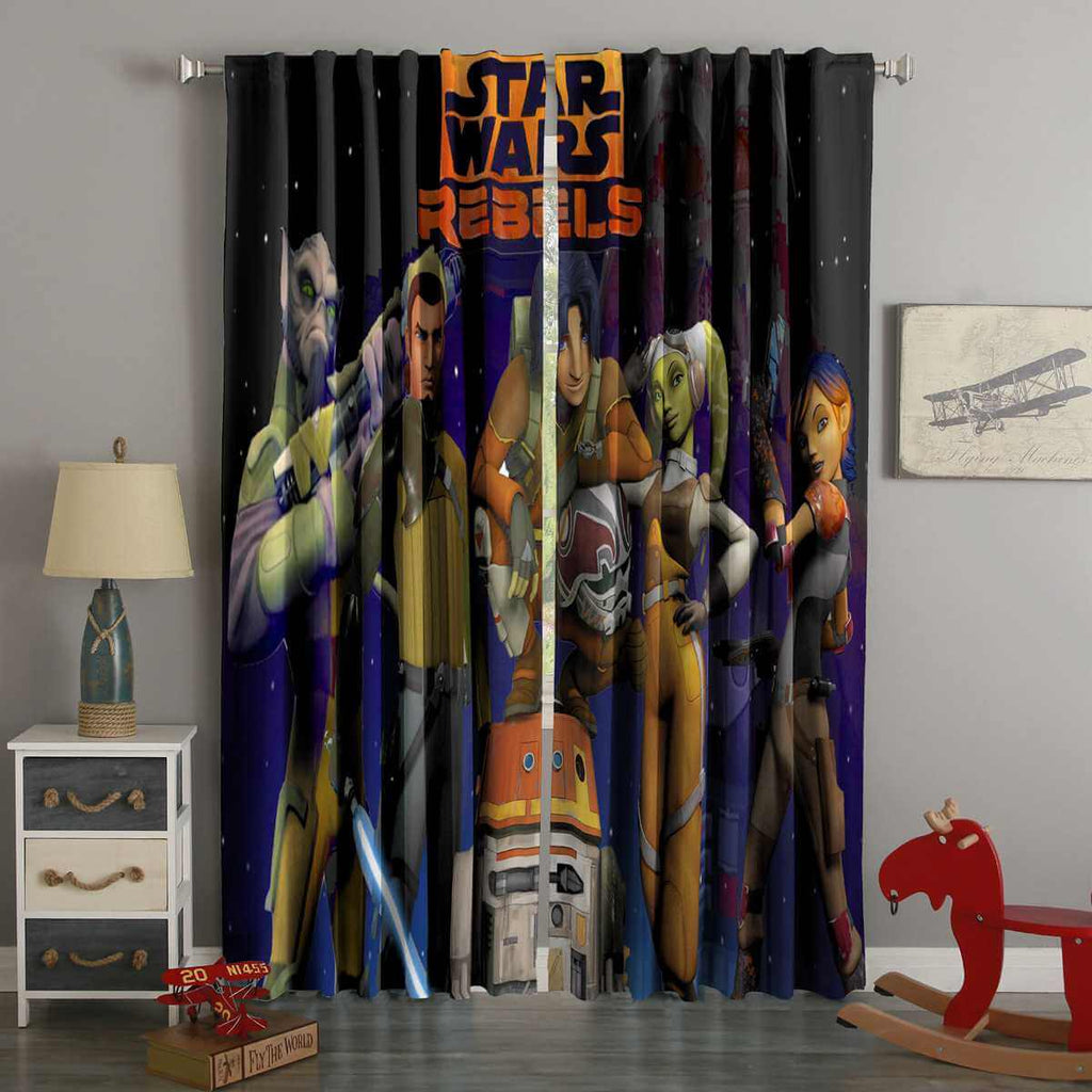 3D Printed Star Wars Rebels Style Custom Living Room Curtains