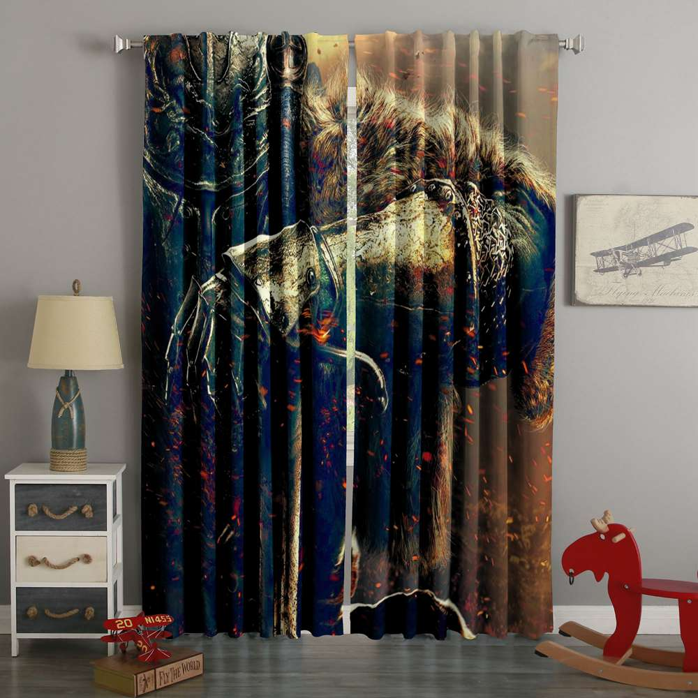 3D Printed Dark Souls Style Custom Living Room Curtains