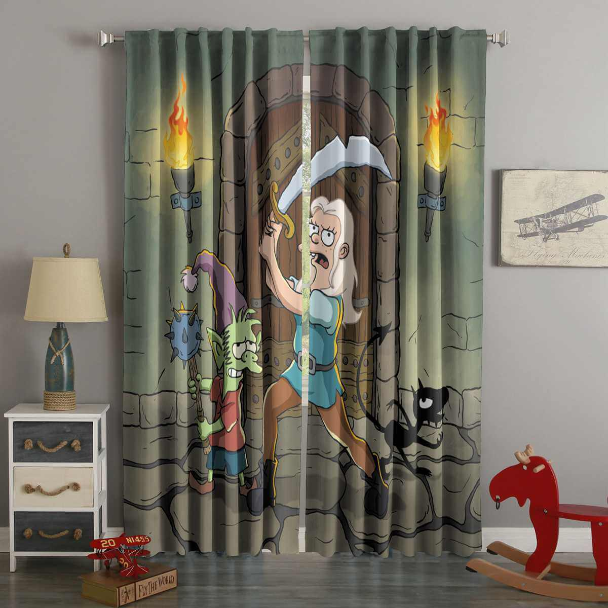 3D Printed Disenchantment Style Custom Living Room Curtains