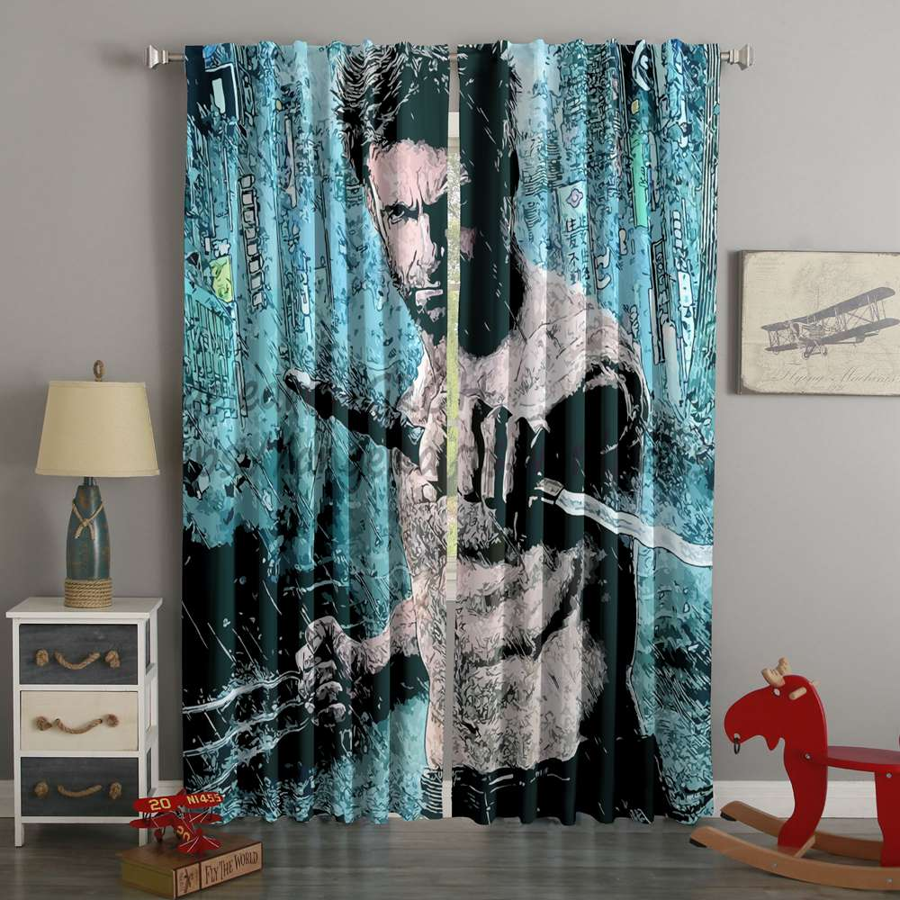3D Printed Wolverine Logan Style Custom Living Room Curtains
