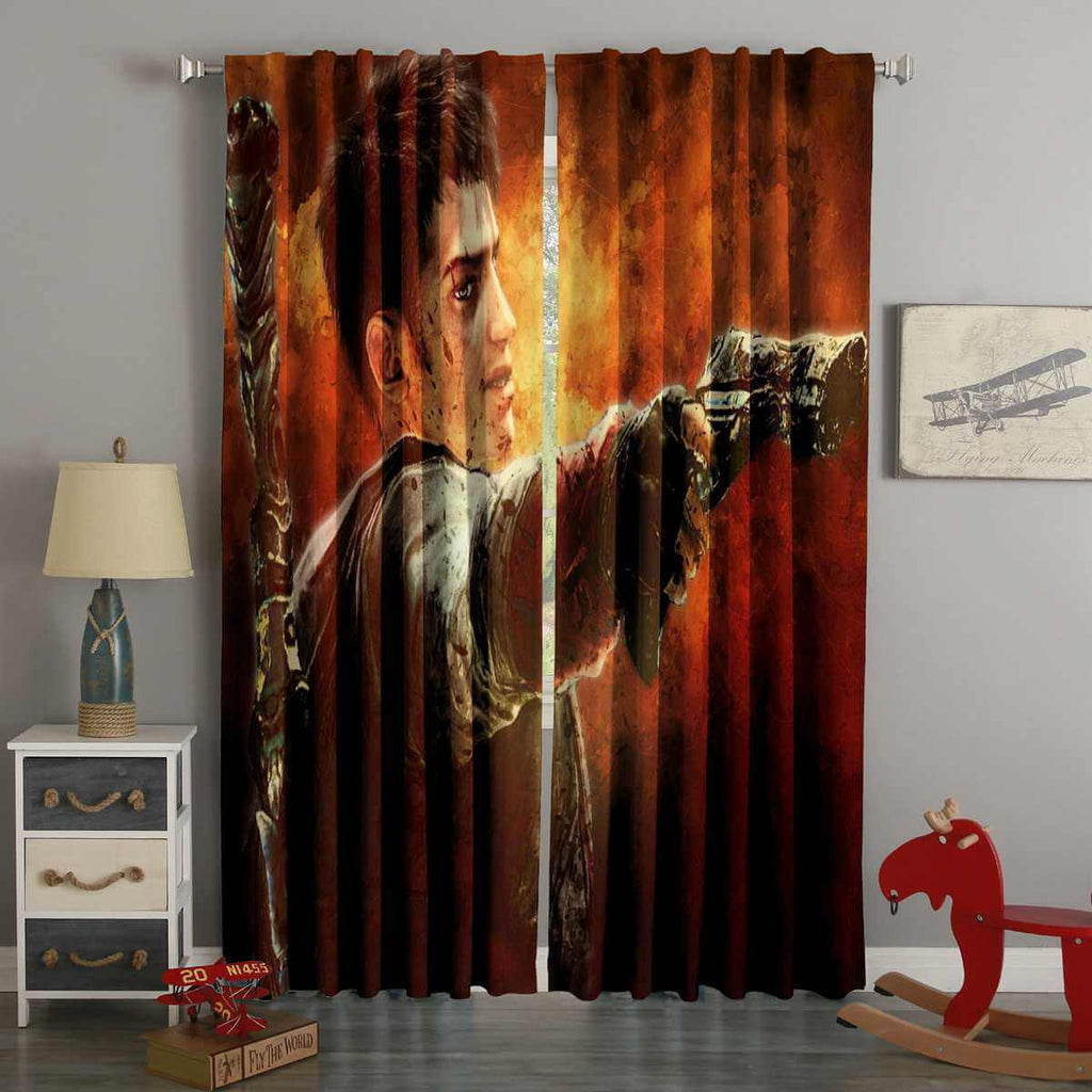3D Printed Devil May Cry Style Custom Living Room Curtains