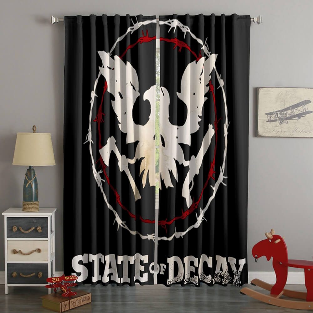 3D Printed State Of Decay 2 Style Custom Living Room Curtains
