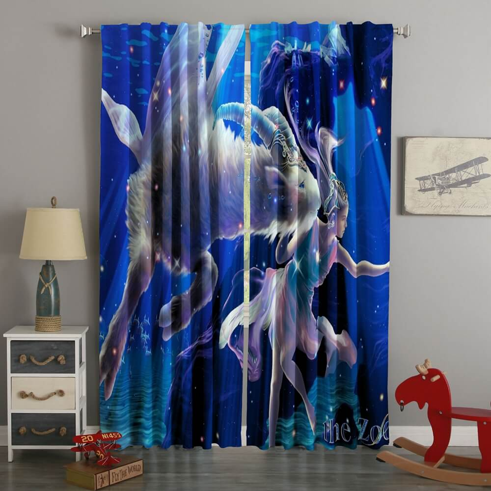 3D Printed Zodiac Goat Style Custom Living Room Curtains