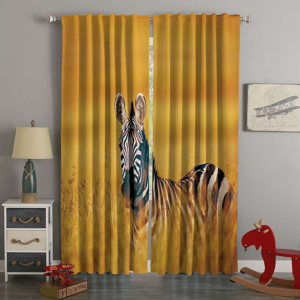 3D Printed Zebra Style Custom Living Room Curtains