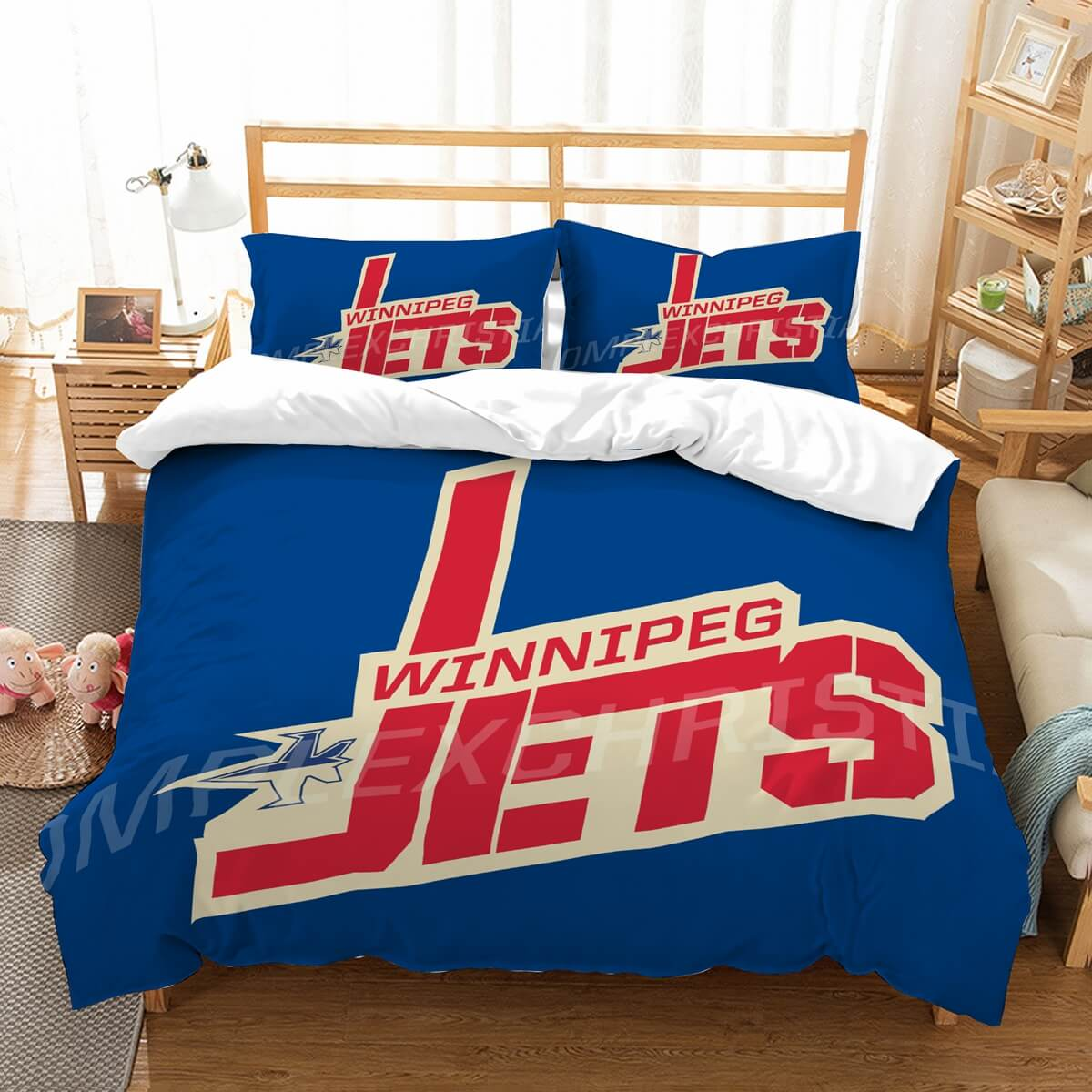 3D Customize Winnipeg Jets  Bedding Set Duvet Cover Set Bedroom Set Bedlinen