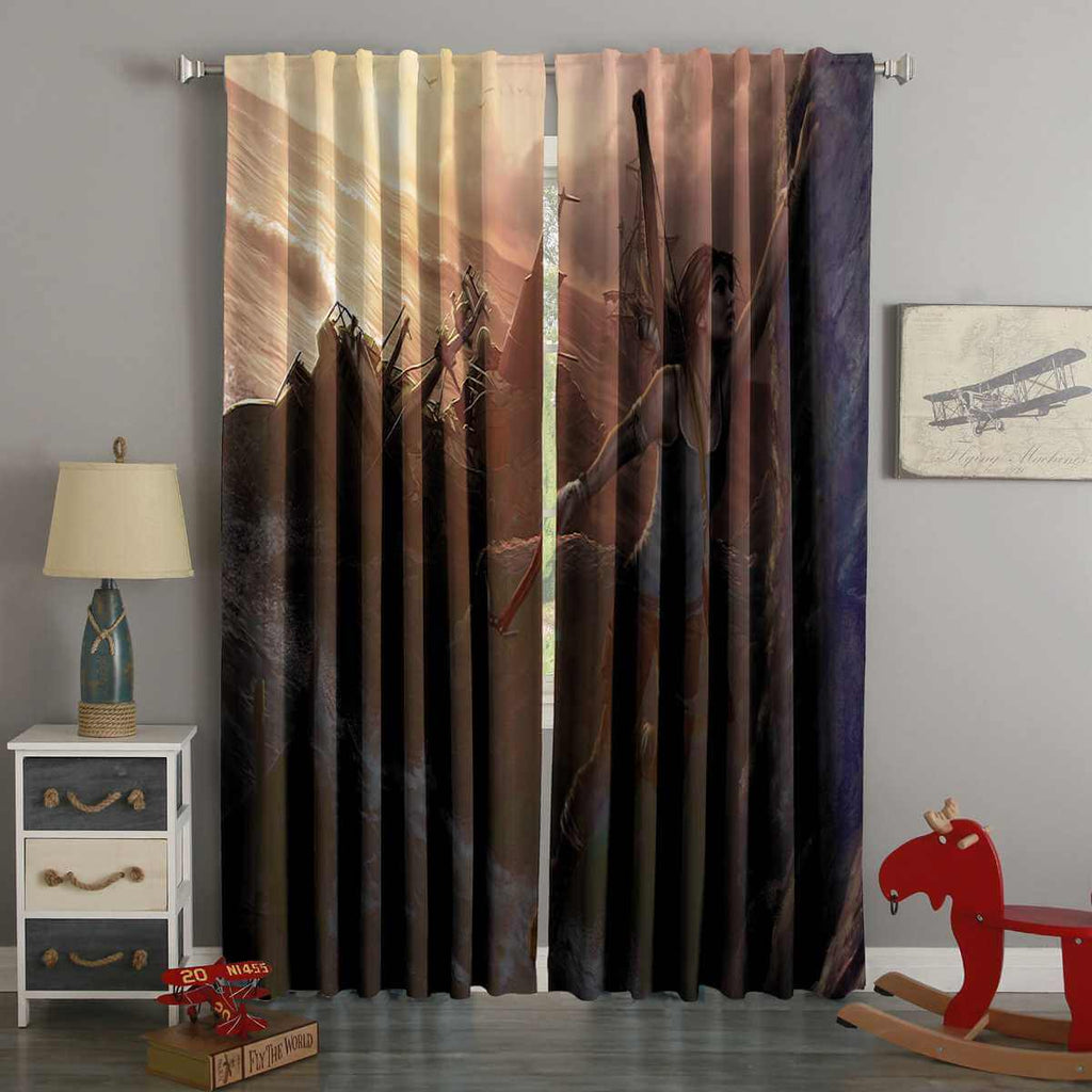 3D Printed Shadow of the Tomb Raider Style Custom Living Room Curtains