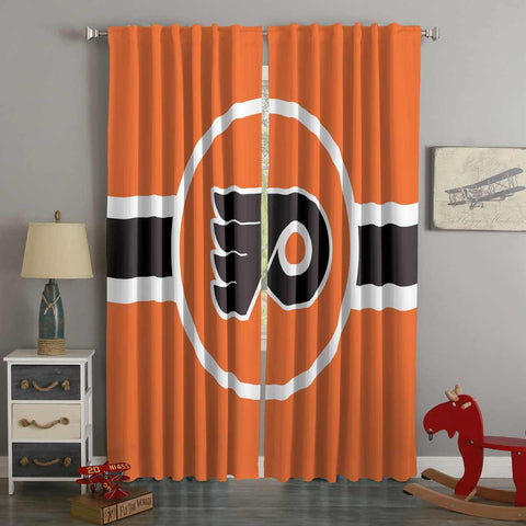 3D Printed Philadelphia Flyers Style Custom Living Room Curtains