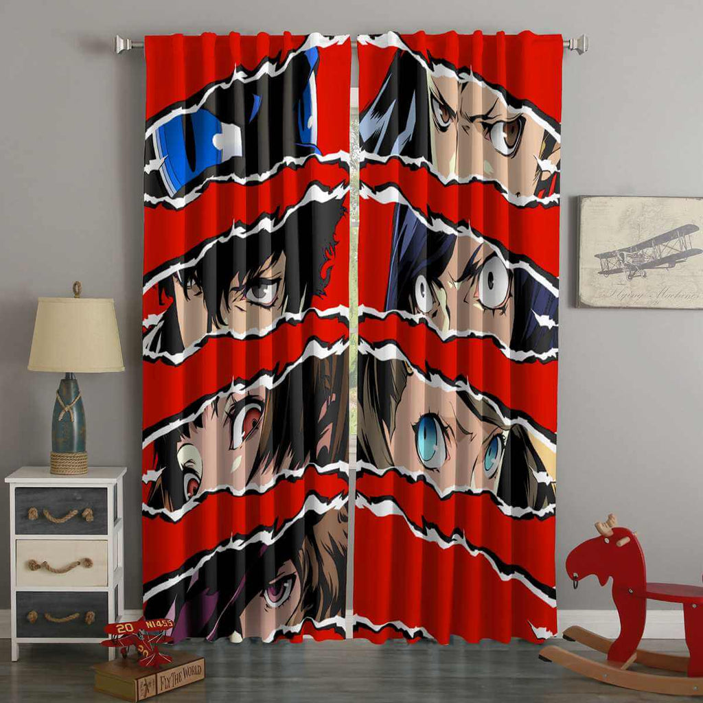 3D Printed Persona 5 Style Custom Living Room Curtains