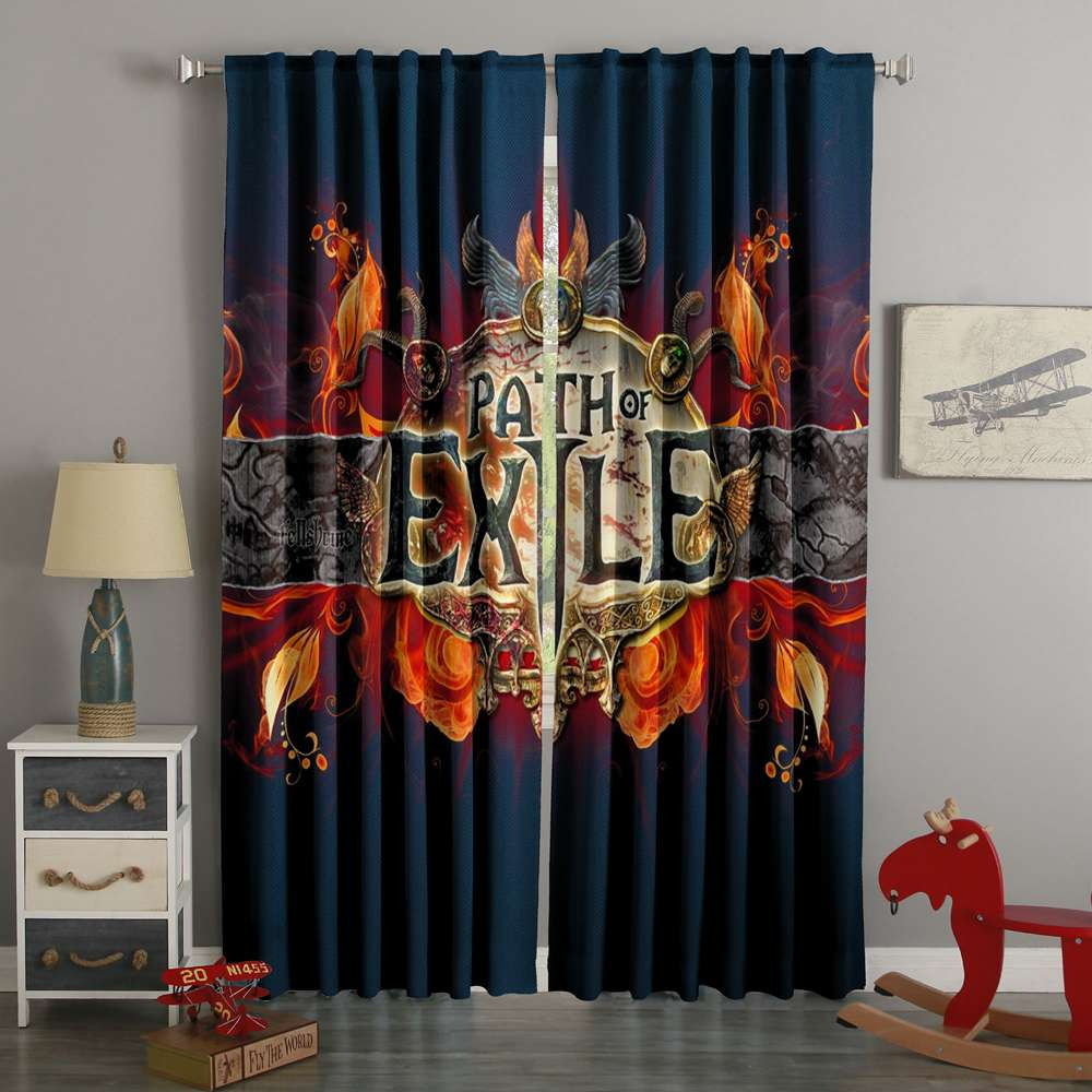 3D Printed Path Of Exile Style Custom Living Room Curtains