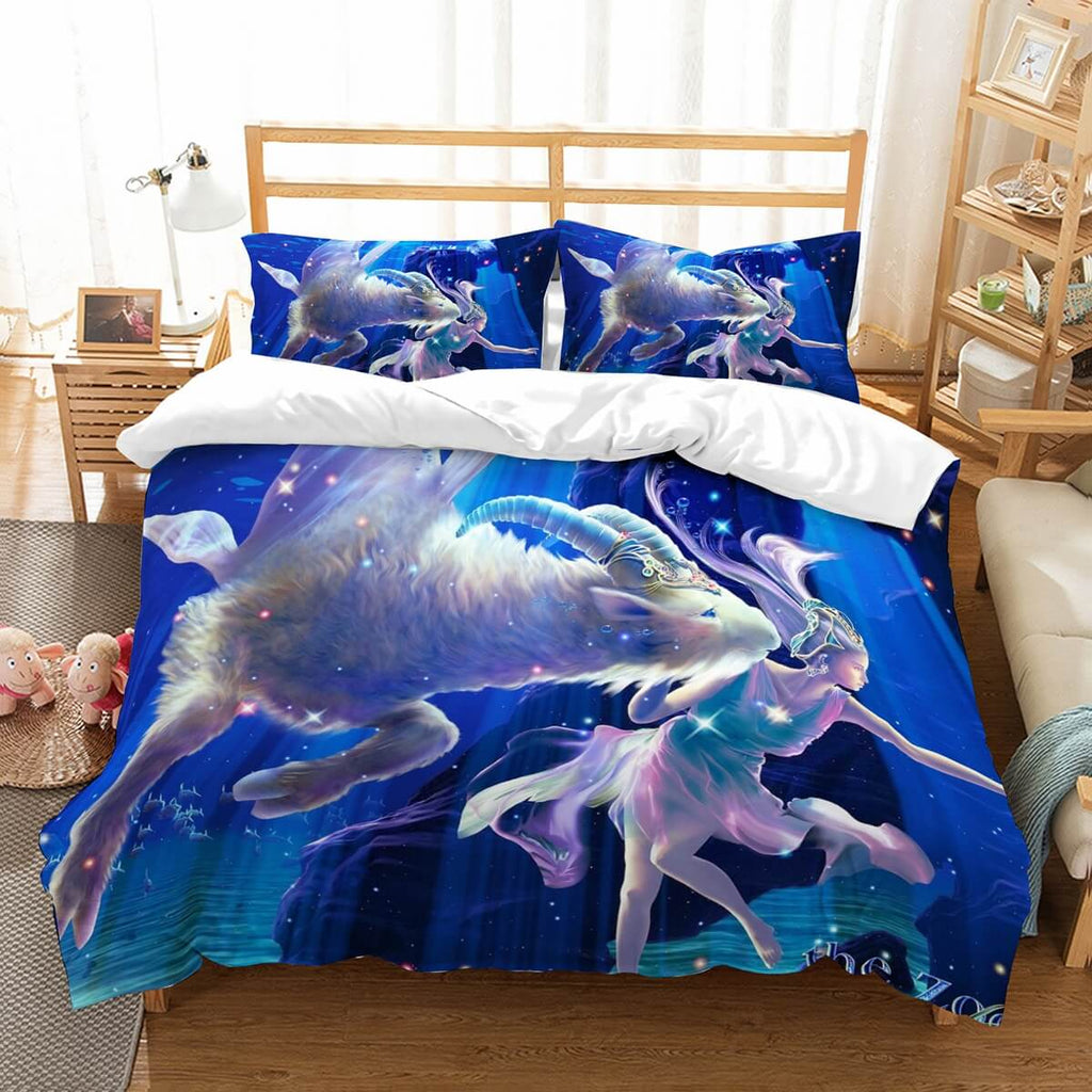 3D Customize Zodiac Goat Bedding Set Duvet Cover Set Bedroom Set Bedlinen