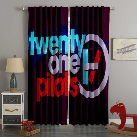 3D Printed Twenty One Pilots Style Custom Living Room Curtains