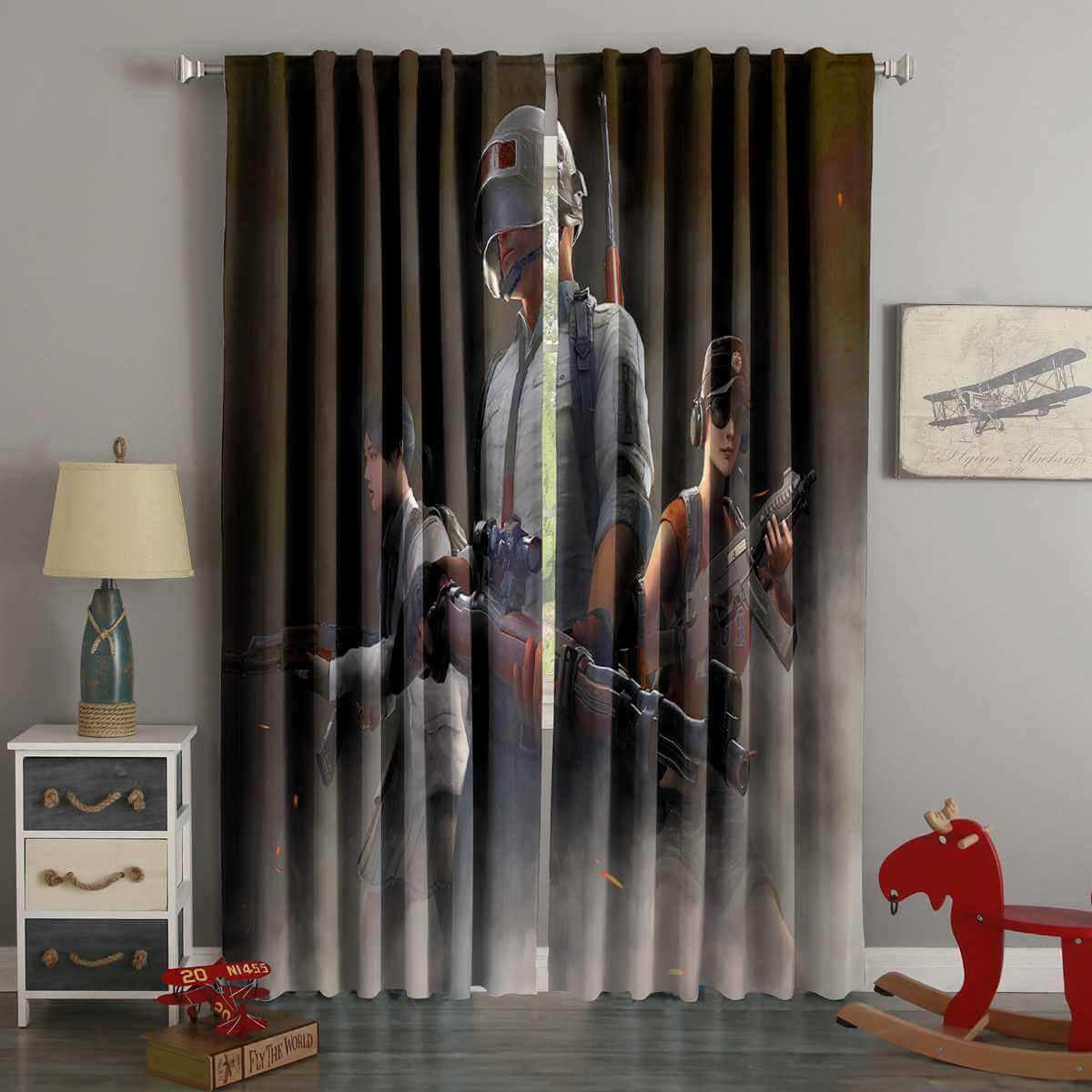 3D Printed Pubg Style Custom Living Room Curtains