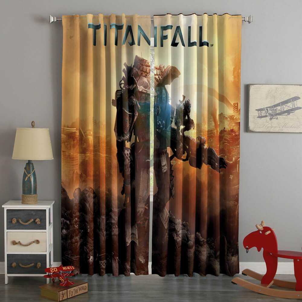 3D Printed Titanfall Style Custom Living Room Curtains