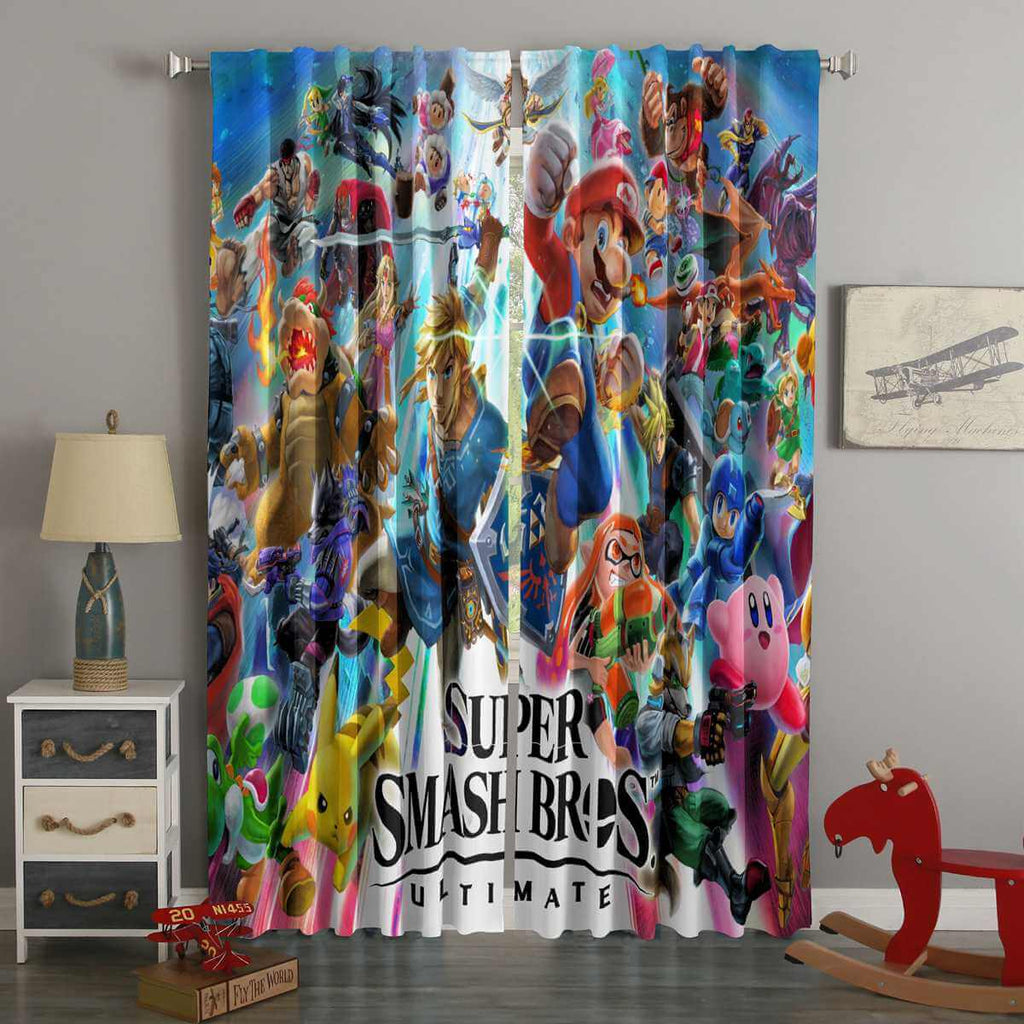 3D Printed Super Smash Bros Ultimate Custom Living Room Curtains
