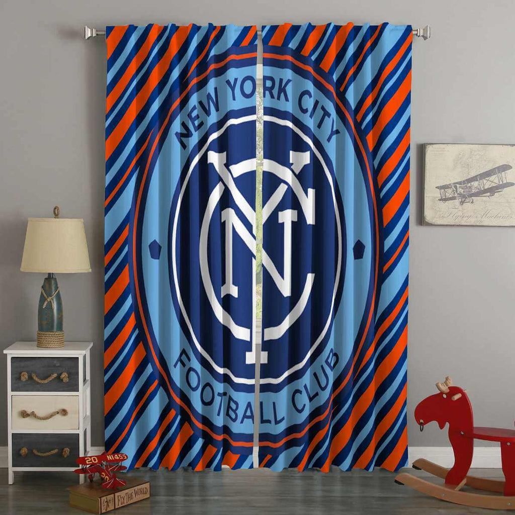 3D Printed New York City FC Style Custom Living Room Curtains