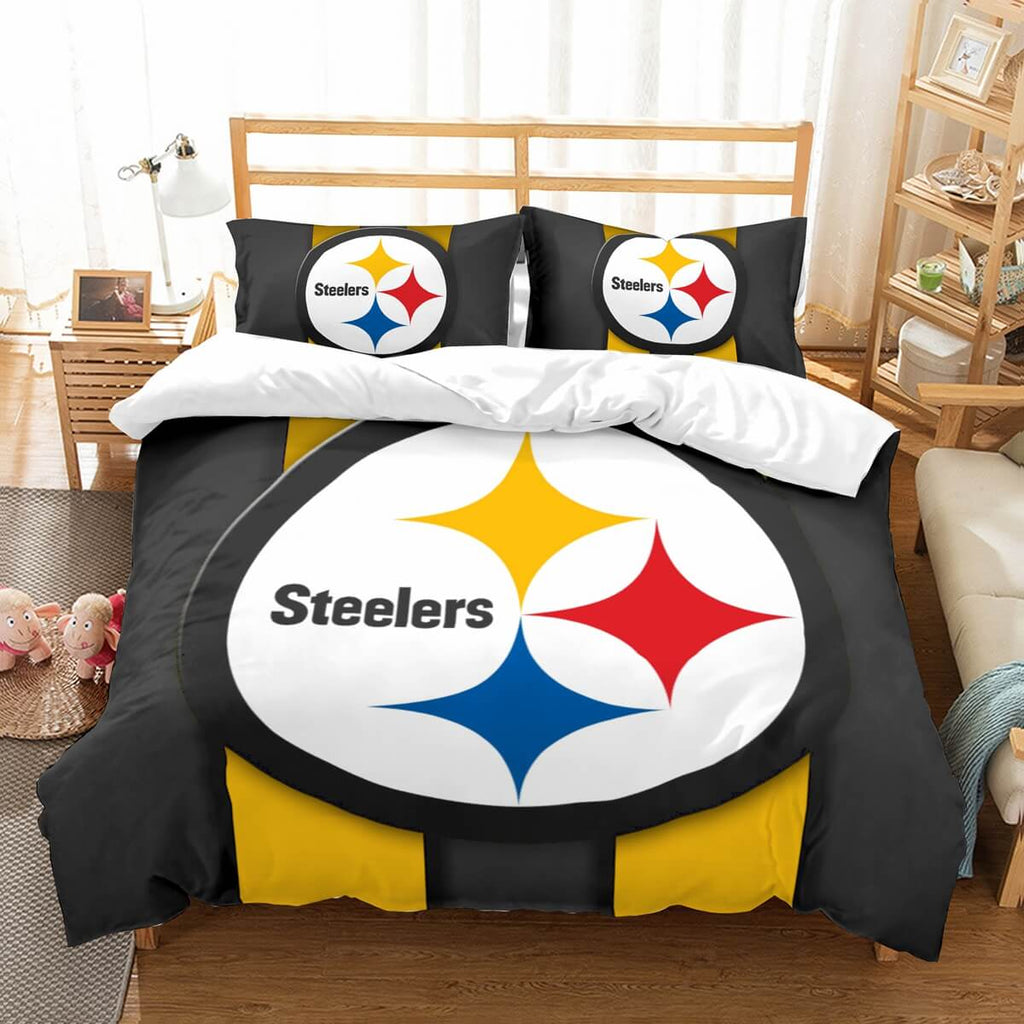 3D Customize Pittsburgh Steelers Bedding Set Duvet Cover Set Bedroom Set Bedlinen