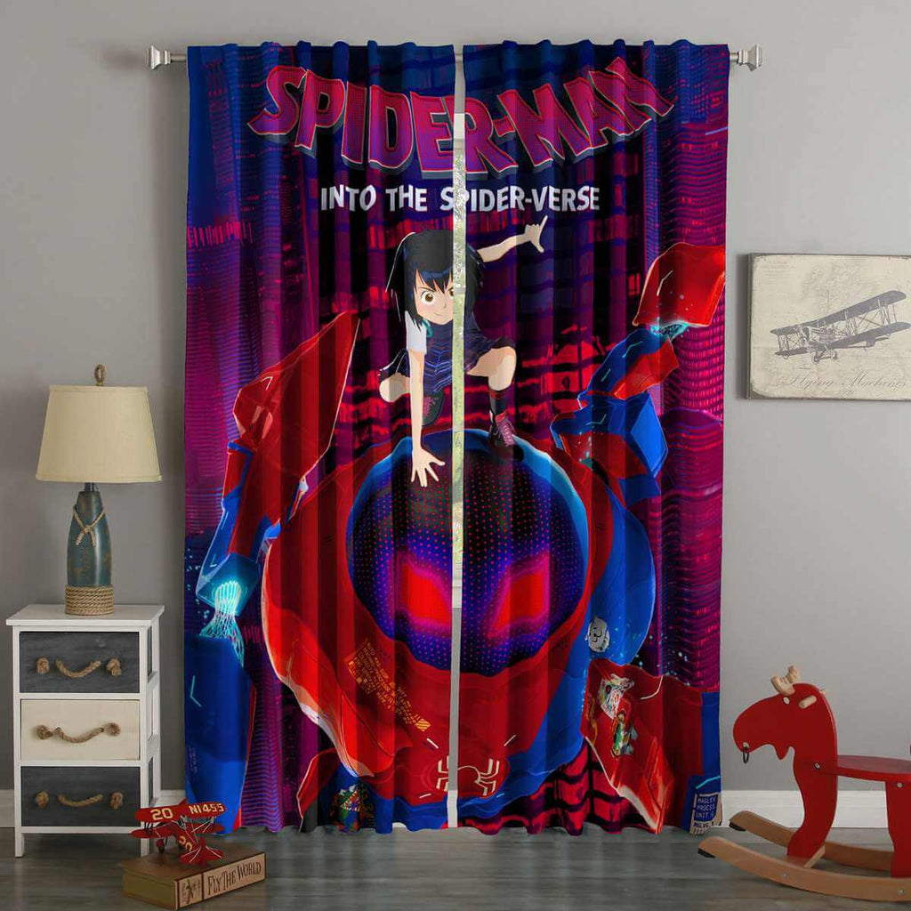 3D Printed Spider-Man Into the Spider-Verse Custom Living Room Curtains