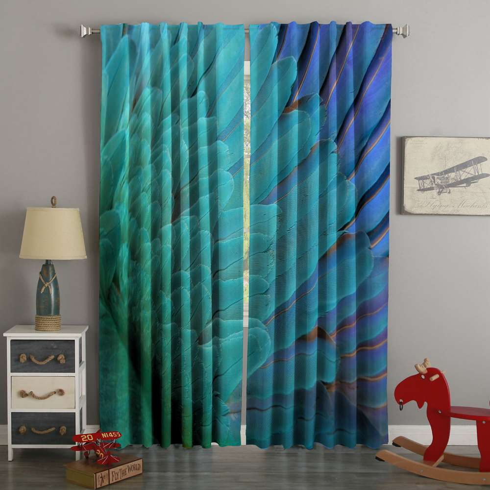 3D Printed R Feathers Style Custom Living Room Curtains