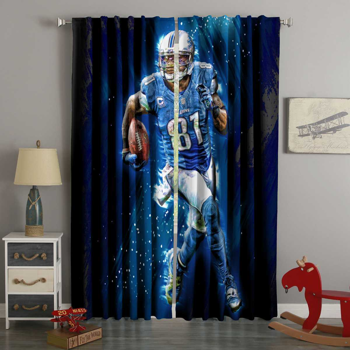 3D Printed Madden NFL 18 Forums Style Custom Living Room Curtains