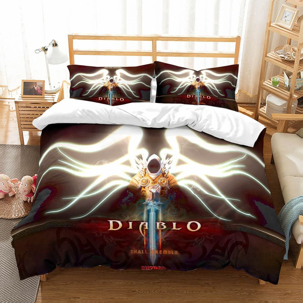 3D Customize Diablo 3 Bedding Set Duvet Cover Set Bedroom Set Bedlinen