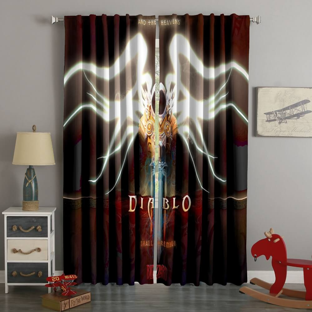 3D Printed Diablo 3 Style Custom Living Room Curtains