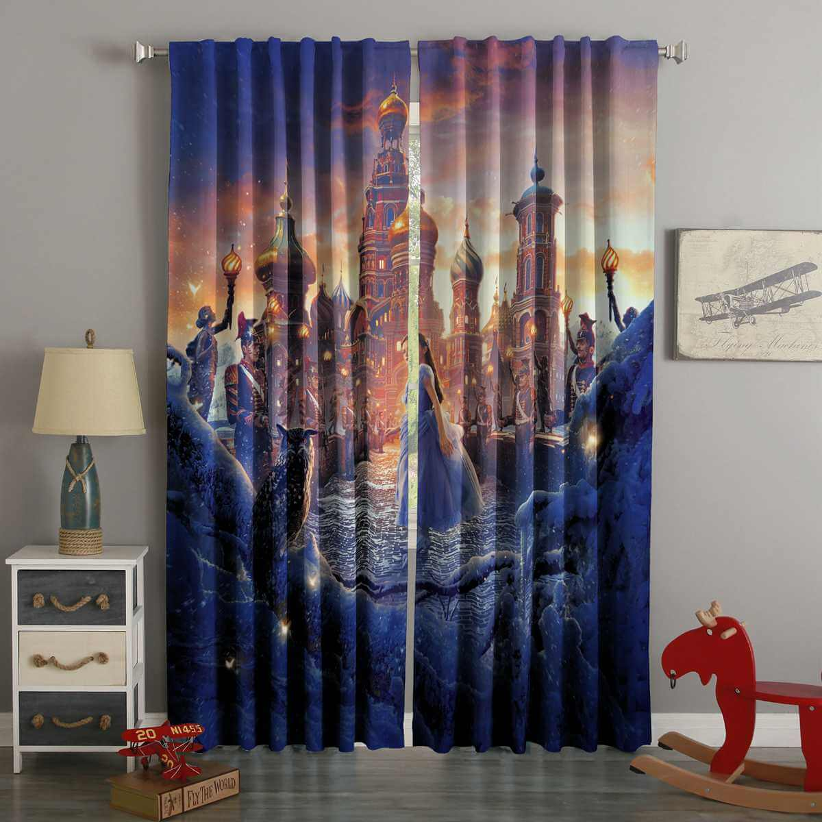 3D Printed The Nutcracker and the Four Realms Style Custom Living Room Curtains