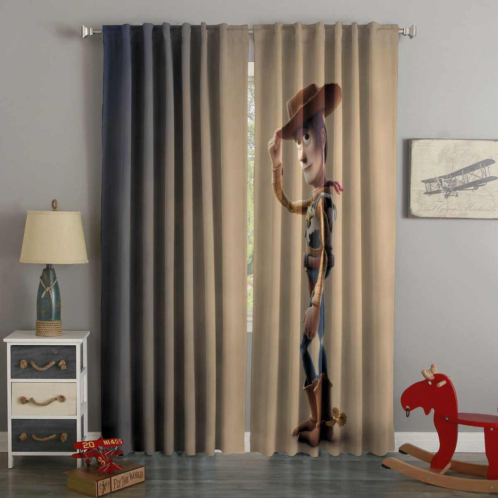3D Printed Toy Story 4 Style Custom Living Room Curtains