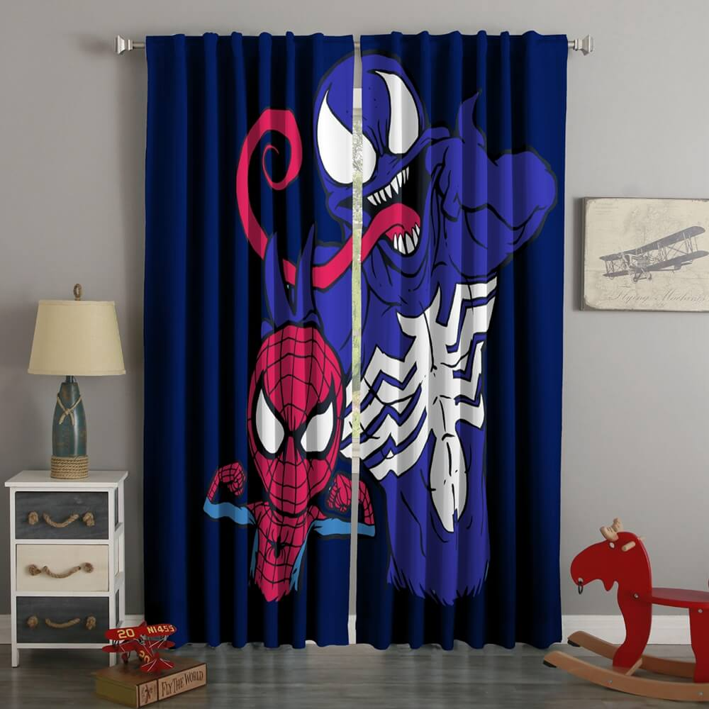 3D Printed Venom & Spider-Man Style Custom Living Room Curtains