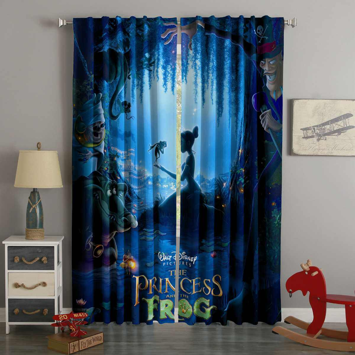 3D Printed The Princess And The Frog Style Custom Living Room Curtains