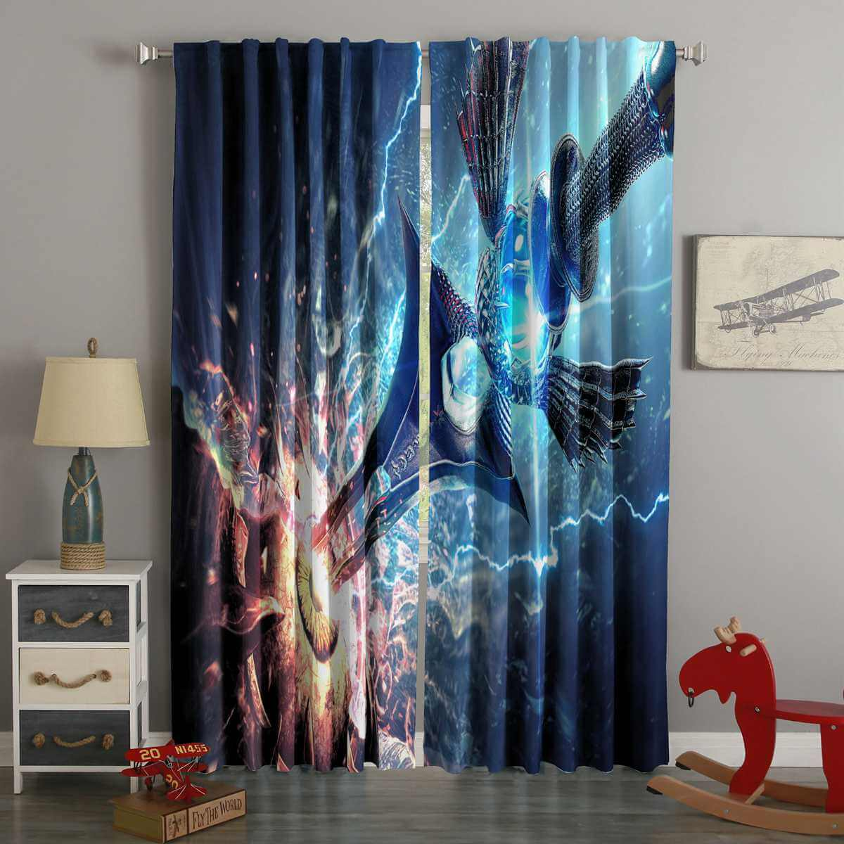 3D Printed Soul Calibur Style Custom Living Room Curtains