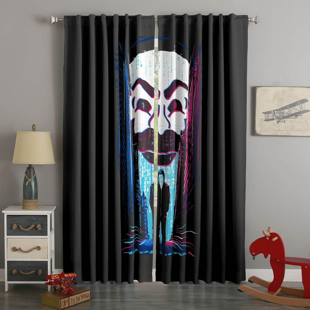 3D Printed Mr.Robot Style Custom Living Room Curtains