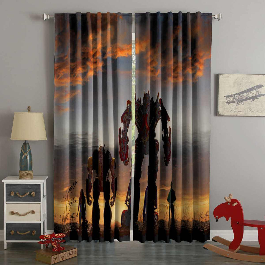 3D Printed Bumblebee Movie Style Custom Living Room Curtains